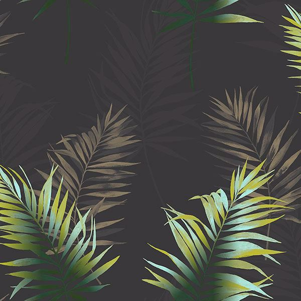 Picture of Kalani Multicolor Fronds Wallpaper