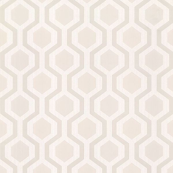 Picture of Kelso Beige Geometric Wallpaper