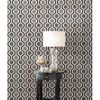 Kelso Black Geometric Wallpaper