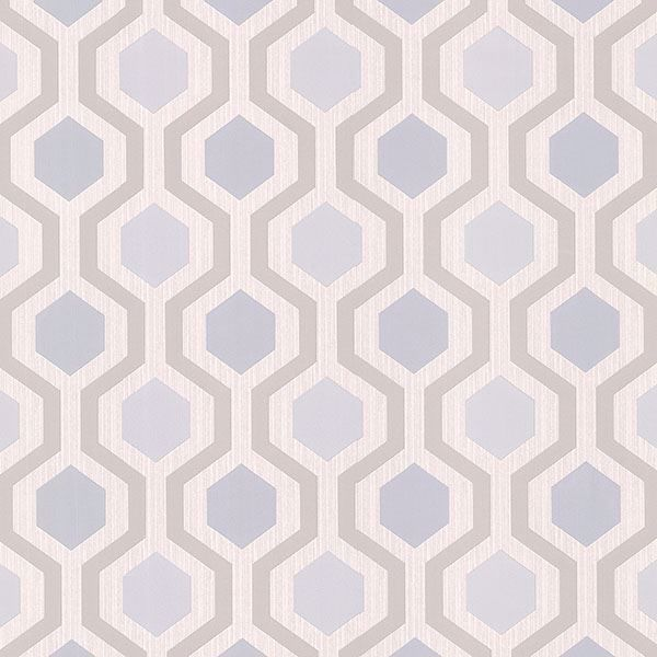 Picture of Kelso Light Blue Geometric Wallpaper