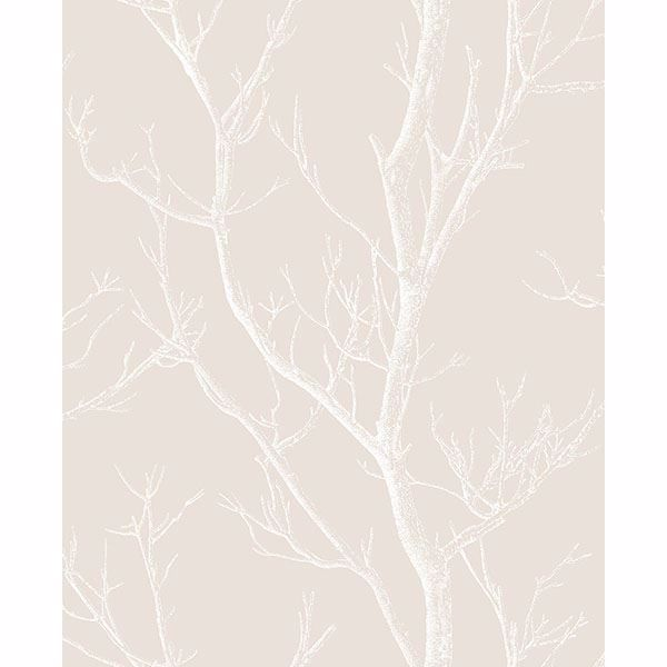 Picture of Laelia Beige Silhouette Tree Wallpaper