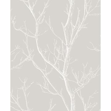 Picture of Laelia Light Grey Silhouette Tree Wallpaper