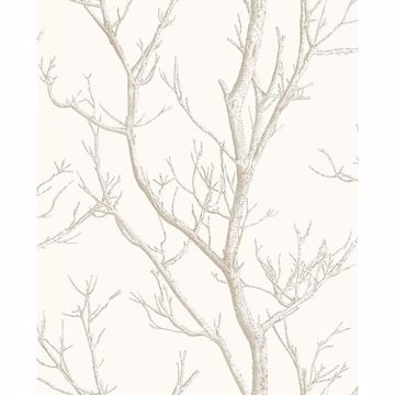 Picture of Laelia White Silhouette Tree Wallpaper