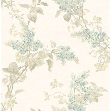 Picture of Lyon Cream French Lilac Wallpaper