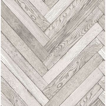 Picture of Mammoth Off-White Diagonal Wood Wallpaper