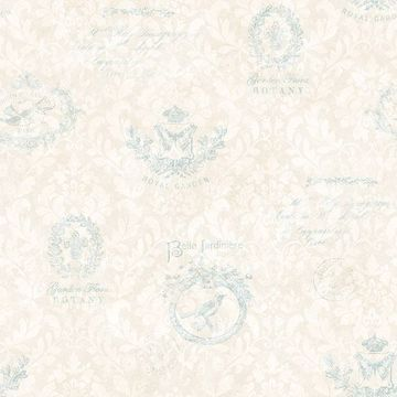 Picture of Manet Light Blue Damask Wallpaper