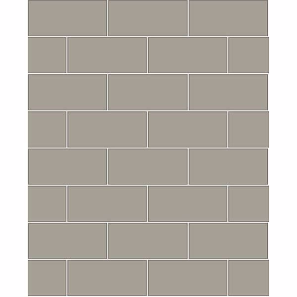 Picture of Parkway Grey Subway Tile Wallpaper