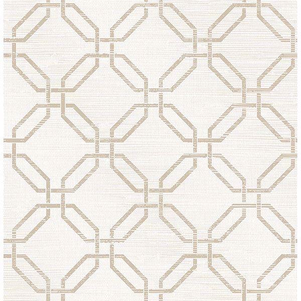 Picture of Phaius White Trellis Wallpaper