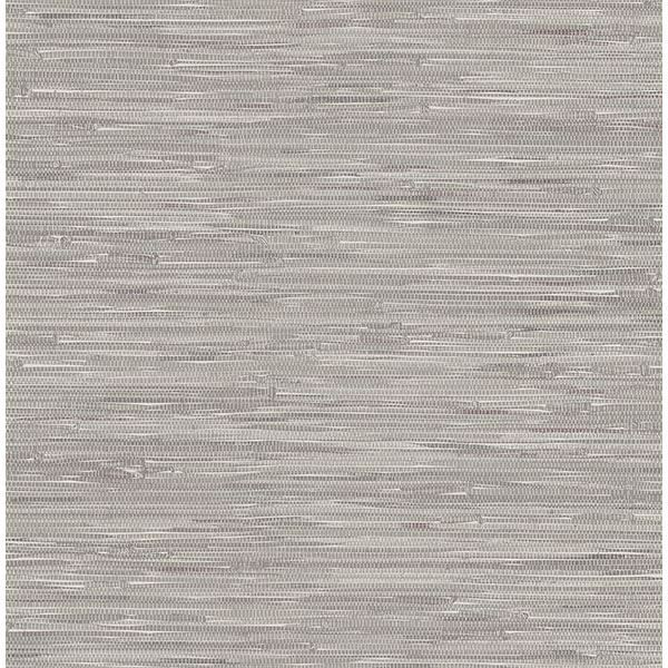 Picture of Poa Grey Faux Grasscloth Wallpaper