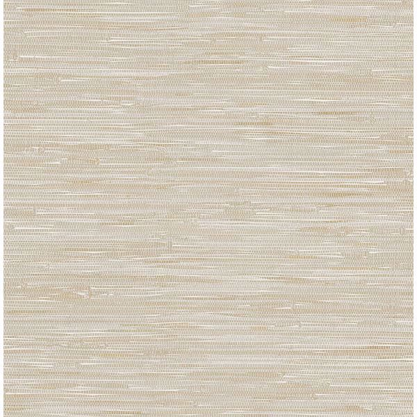 Picture of Poa Taupe Faux Grasscloth Wallpaper