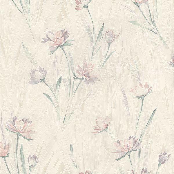 Picture of Quintero Multicolor Carnation Print Wallpaper