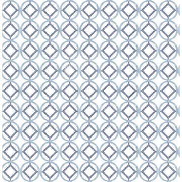 Picture of Rigel Blueberry Geometric Wallpaper