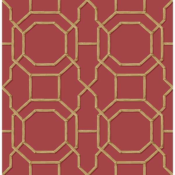 Picture of Rumi Red Trellis Wallpaper