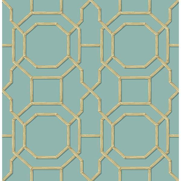 Picture of Rumi Turquoise Trellis Wallpaper