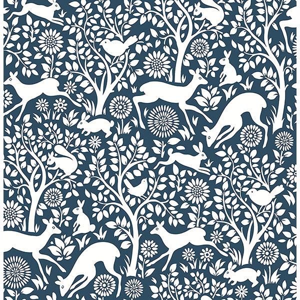 Picture of Seeger Denim Meadow Wallpaper