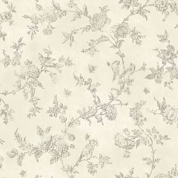 Picture of Singapore Cream Toile Wallpaper