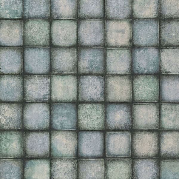 Picture of Soucy Blue Tiles Wallpaper