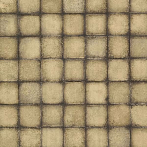 Picture of Soucy Gold Tiles Wallpaper