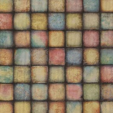 Picture of Soucy Multicolor Tiles Wallpaper