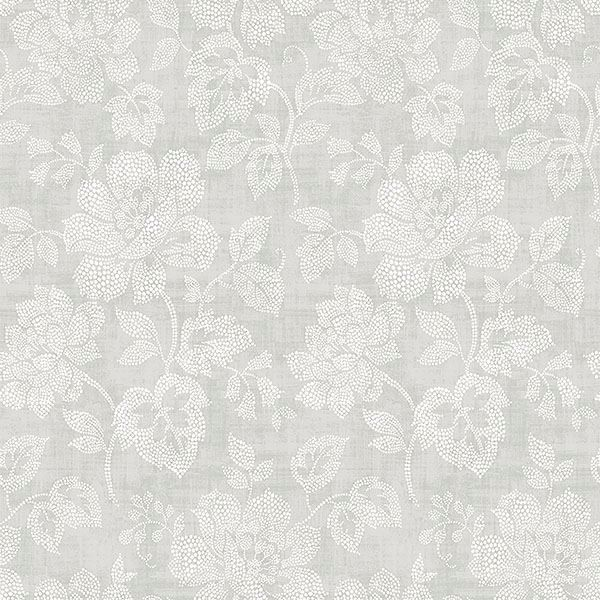 Picture of Tansy Light Grey Floral Scroll Wallpaper