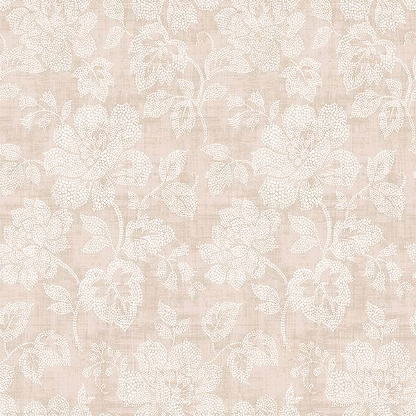 Picture of Tansy Neutral Floral Scroll Wallpaper