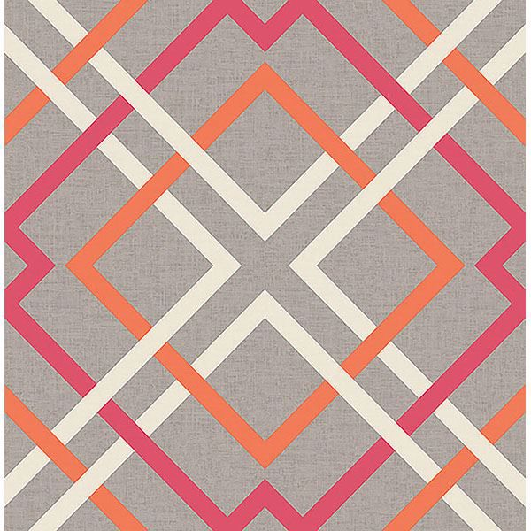 Picture of Tuvalu Pink Lattice Wallpaper
