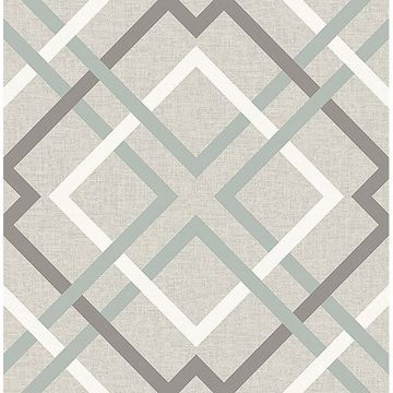 Picture of Tuvalu Taupe Plaid Wallpaper