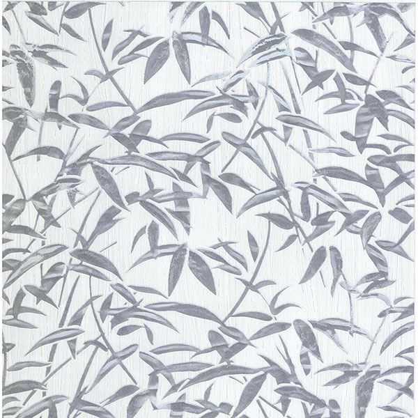 Picture of Vanda Grey Milano Leaves Wallpaper