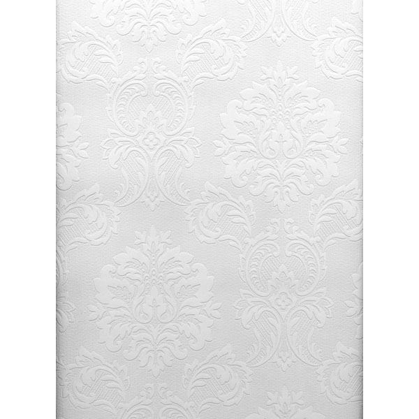 2780 32808 Plouf Paintable Damask Wallpaper By Brewster