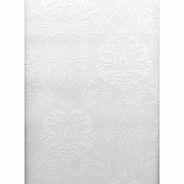 Picture of Plouf Paintable Damask  Wallpaper