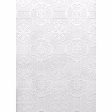 Picture of Westerberg Paintable Ornate Tiles Wallpaper
