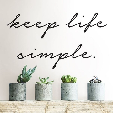 Picture of Keep Life Simple Wall Quote Decals