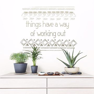 Picture of Things Work Out Wall Quote Decals