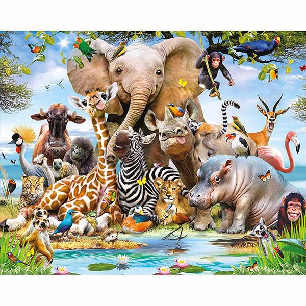 Jungle Safari Wall Mural