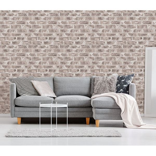 Picture of Jomax Grey Warehouse Brick Wallpaper