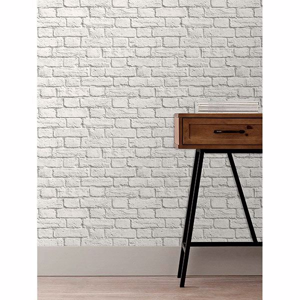 Picture of Cologne White Painted Brick Wallpaper