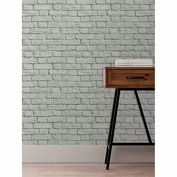 Picture of Cologne Grey Painted Brick Wallpaper