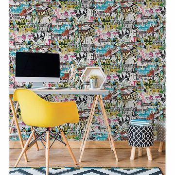 Picture of Barbican Multicolor Ripped Poster Wallpaper