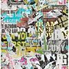Barbican Multicolor Ripped Poster Wallpaper
