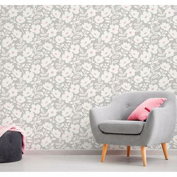 Picture of Bergman Pink Scandi Flower Wallpaper