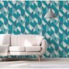 Delano Blue Structured Geo Wallpaper