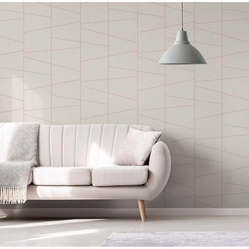 Picture of Fairmont Eggshell Deco Fracture Wallpaper