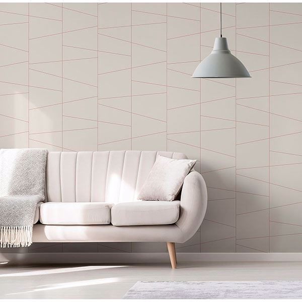 Picture of Fairmont Eggshell Deco Fracture Wallpaper