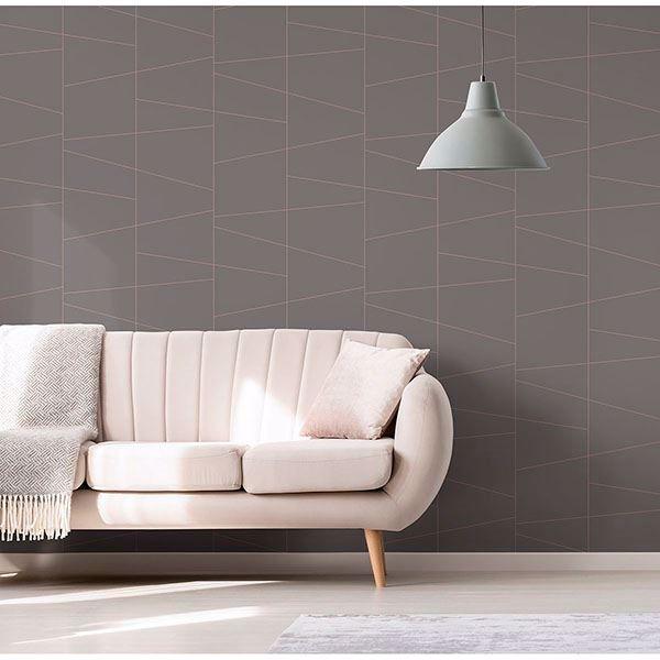 Picture of Fairmont Rose Deco Fracture Wallpaper
