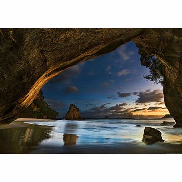 Picture of Cathedral Cove In New Zealand Wall Mural