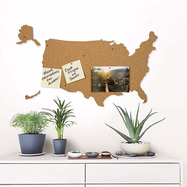 Picture of USA Cork Map Pin Board
