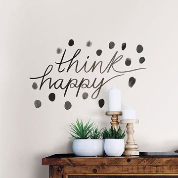 Picture of Think Happy Wall Quote Decals