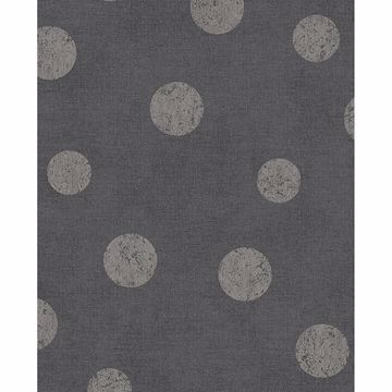 Picture of Caro Charcoal Polka Dots Wallpaper