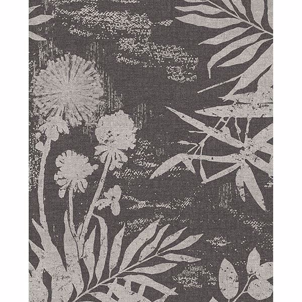 Picture of Hedda Black Botanical Wallpaper