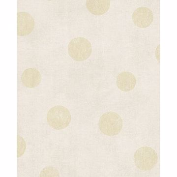 Picture of Caro Eggshell Polka Dots Wallpaper